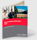 Online MBA program brochure
